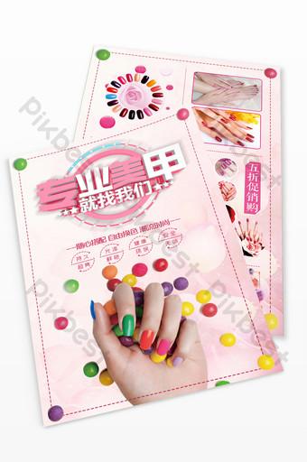 tờ rơi nghệ thuật nail cao cấp màu hồng Bản mẫu PSD