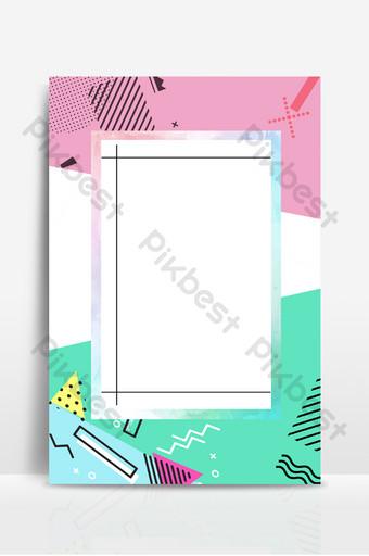 fondo de empalme de parche de color de memphis geométrico simple creativo Fondos Modelo PSD