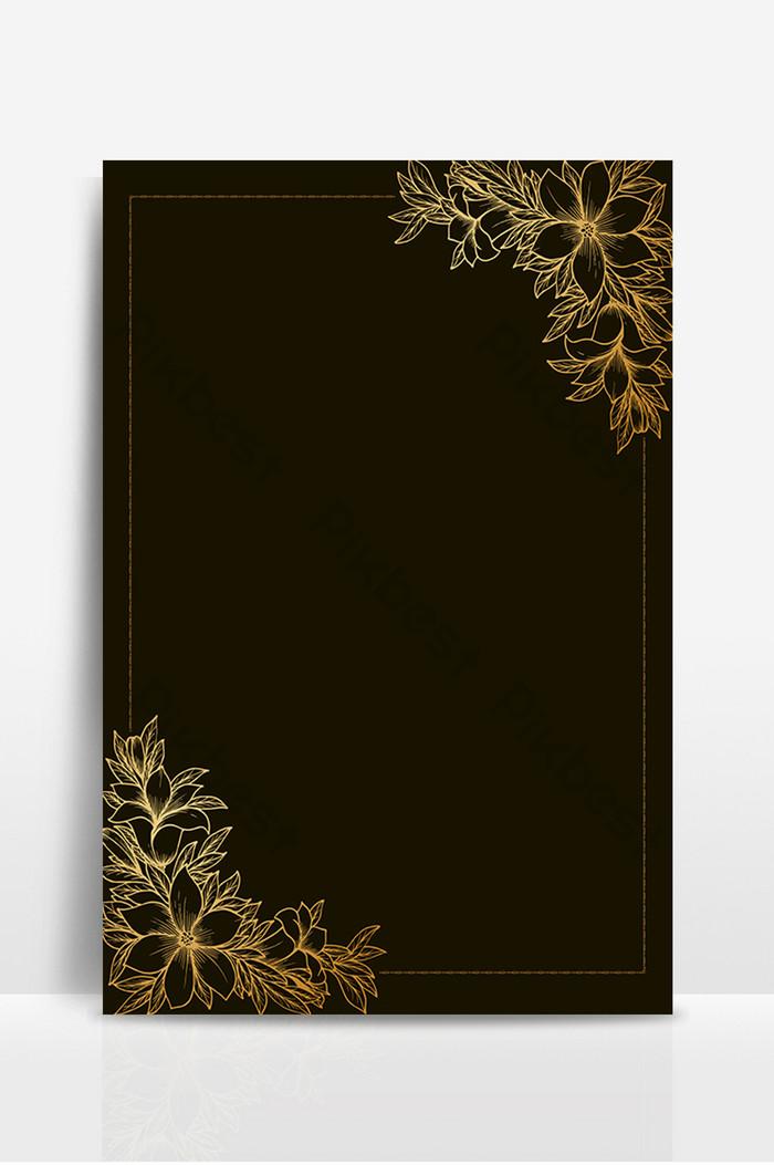 黑色背景上的花邊邊框設計