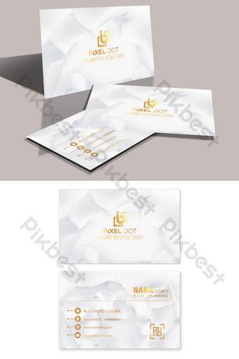 carte de visite de bijoux en or et en argent de texture haut de gamme Modèle PSD