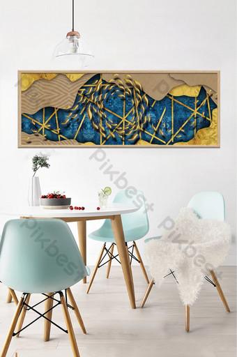 literario abstracto tridimensional escuela de peces paisaje sala de estar dormitorio pintura decorativa creativa Decoración y modelo Modelo PSD