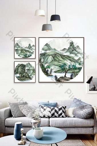 現代抽象客廳沙發背景牆臥室裝飾畫玄關掛 裝飾·模型 模板 PSD