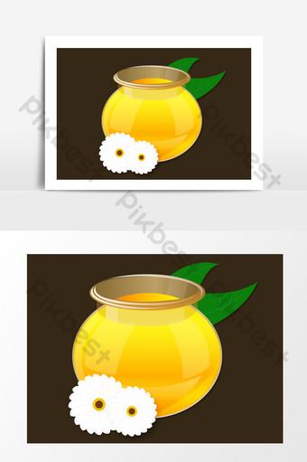 عسل النحل ناقلات مرسومة باليد الكرتون صور PNG قالب AI