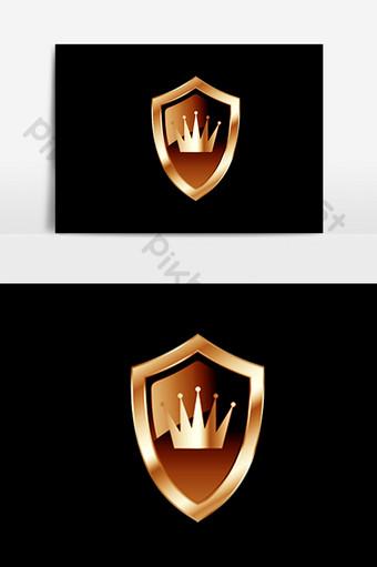 escudo de la corona dorada psd Elementos graficos Modelo PSD