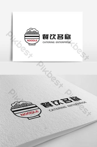 diseño de logotipo de restaurante de línea linda simple y elegante Modelo AI