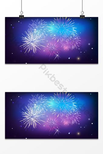fuegos artificiales de fantasía fuegos artificiales hermoso fondo azul floreciente Fondos Modelo PSD