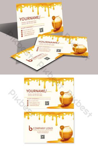 Carte de visite Golden Honey Bee Jelly Modèle PSD