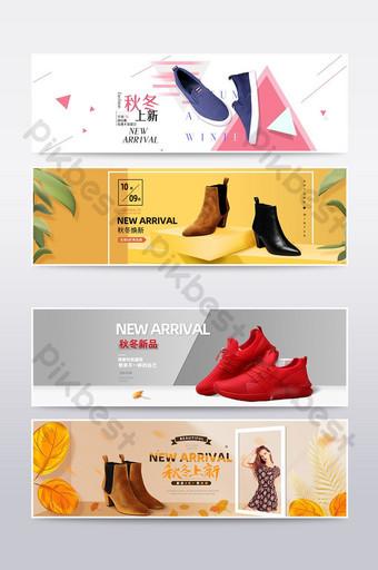 spanduk poster sepatu fashion wanita e commerce E-commerce Templat PSD