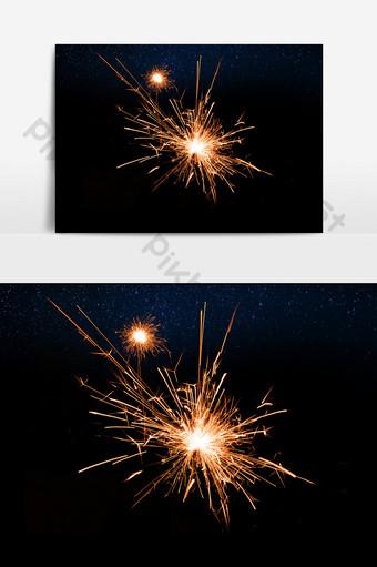 elementos de efecto de vacaciones de alta definición fuegos artificiales florecientes Elementos graficos Modelo PSD
