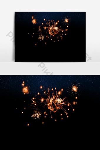 elemento de efecto pirotécnico de fuegos artificiales realistas vacaciones hd Elementos graficos Modelo PSD