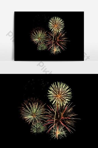 elementos de efecto de vacaciones de pirotecnia de fuegos artificiales florecientes Elementos graficos Modelo PSD