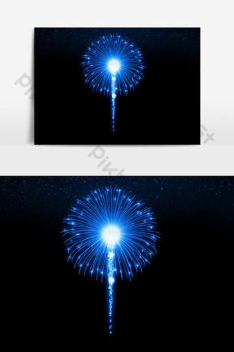 elemento de efecto de vacaciones hd fuegos artificiales azules Elementos graficos Modelo PSD