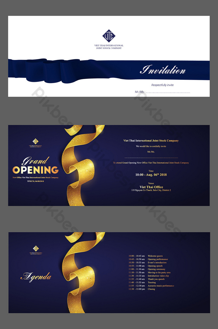 Sophisticated Elegnat Business Grand Opening Invitation