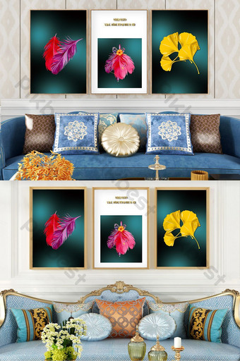 建藝術植物水晶瓷客廳酒店臥室創意裝飾畫 裝飾·模型 模板 PSD