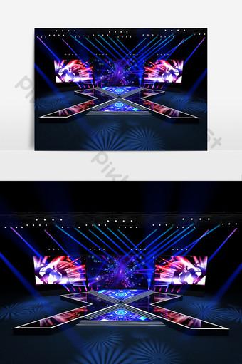 個人舞台設計模型 裝飾·模型 模板 MAX
