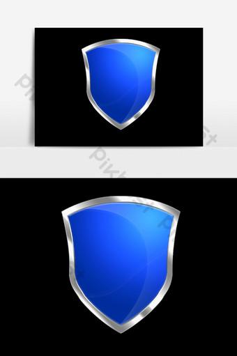 psd escudo azul Elementos graficos Modelo PSD