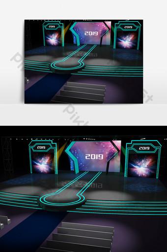 公司聚會會議舞台的3D模型 裝飾·模型 模板 MAX