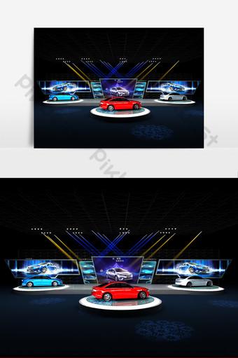 汽車發布會舞台設計模型 裝飾·模型 模板 MAX