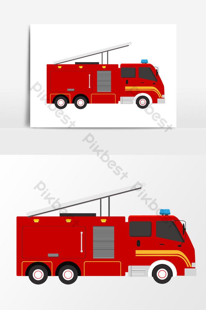 سيارة إطفاء رسم