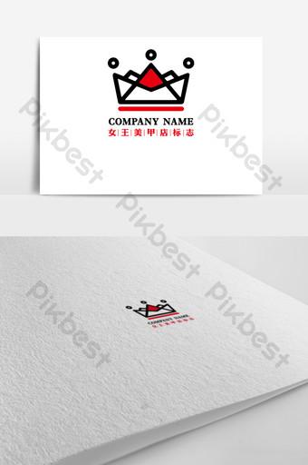 Thiết kế logo cửa hàng thời trang nữ hoàng nail Bản mẫu AI