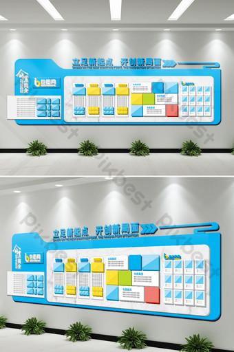 تاريخ مدرسة الشركة صورة الجدار صورة ثلاثية الأبعاد الدقيقة ثقافة الشركات الديكور والنموذج قالب CDR