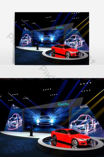 汽車會議的舞台模型設計 裝飾·模型 模板 MAX