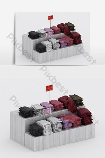 النمط الصناعي الحديث خزانة الملابس عرض مزيج نموذج ثلاثي الأبعاد الديكور والنموذج قالب MAX