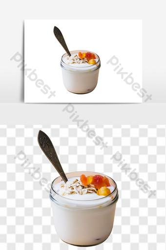 Sữa chua trái cây ăn sáng bổ dưỡng Thương mại điện tử Bản mẫu PNG