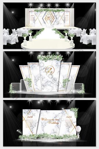 representaciones de boda de mármol fresco simples y pequeñas. Decoración y modelo Modelo PSD