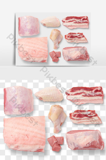雞肉豬肉食物元素png文件摳圖 電商淘寶 模板 PSD