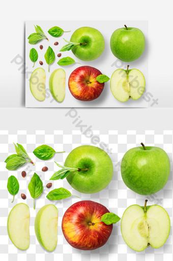 青蘋果紅色食物元素png文件 電商淘寶 模板 PSD