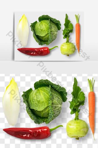 水菠菜蘿蔔辣椒食物元素png文件 電商淘寶 模板 PSD