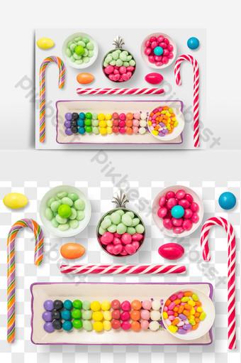 elemen makanan kacang jeli coklat berwarna gambar png E-commerce Templat PSD