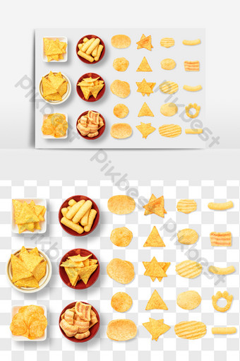 keripik kentang keripik udang makanan ringan elemen makanan gambar png E-commerce Templat PSD