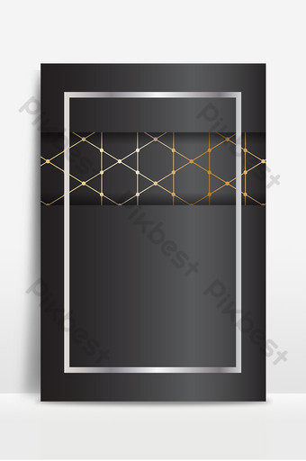 Senior gray texture golden line fashion poster background image Backgrounds Template AI