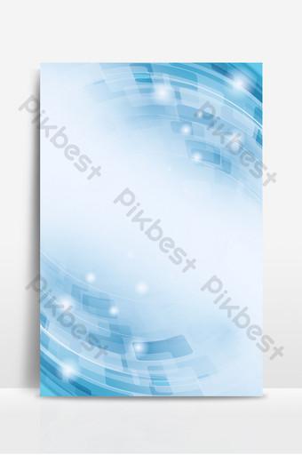 商務技術抽象幾何藍色漸變光效果背景 背景 模板 PSD