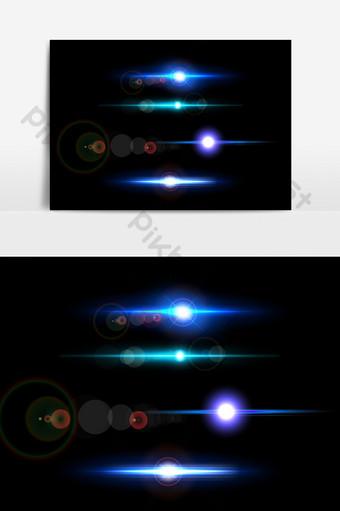 藍色宇宙線夢光效果ai矢量圖 元素 模板 AI