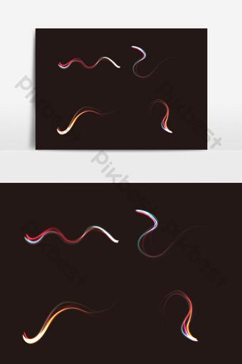luz aerodinámica de color con efecto ai vector Elementos graficos Modelo AI