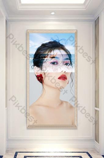 個性抽像美女客廳臥室酒店創意裝飾畫 裝飾·模型 模板 PSD