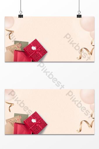 Thanksgiving texture papier kraft carte de voeux boîte cadeau fond de ruban d'or Fond Modèle PSD