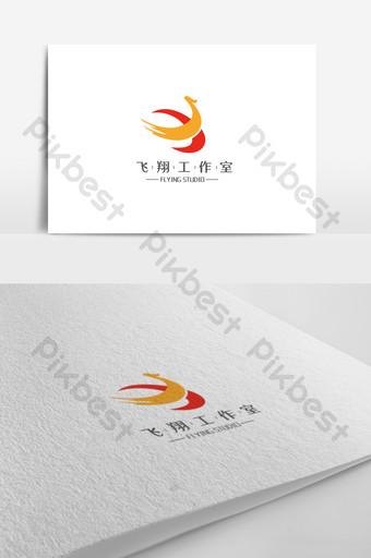 plantilla de diseño de logotipo de estudio de vuelo simple y elegante Modelo AI