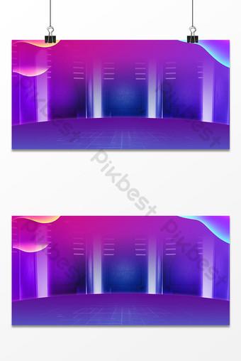 紫紅色舞檯燈光psd廣告背景圖 背景 模板 PSD