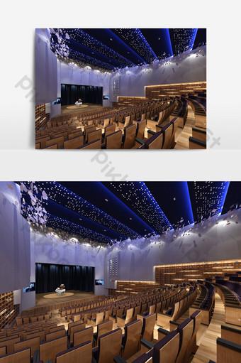舞台模型現代藝術主題音樂廳效果圖 裝飾·模型 模板 MAX
