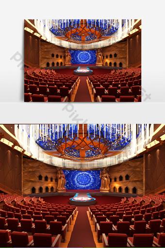 古典風格舞台美女元素模型效果圖 裝飾·模型 模板 MAX