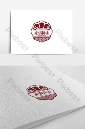 تصميم شعار متجر الأثاث الإبداعي قالب CDR