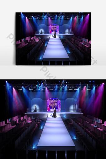 模型舞台設計時尚時裝表演3D模型效果圖 裝飾·模型 模板 MAX