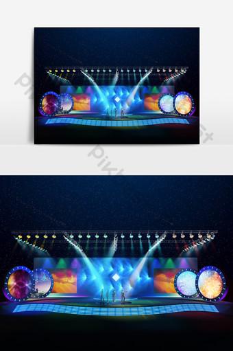 圓屏元素舞台設計模型效果圖 裝飾·模型 模板 MAX
