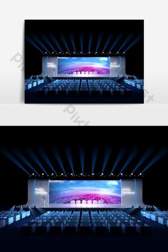 現代國外企業聖誕節舞台設計模型效果圖 裝飾·模型 模板 MAX