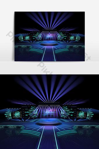 豐富多彩的年度音樂會舞台設計模型效果圖 裝飾·模型 模板 MAX