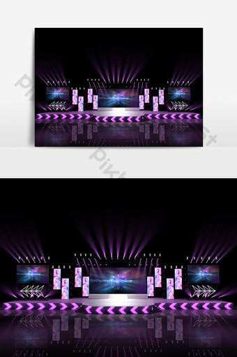 現代電子音樂舞台設計模型效果圖 裝飾·模型 模板 MAX